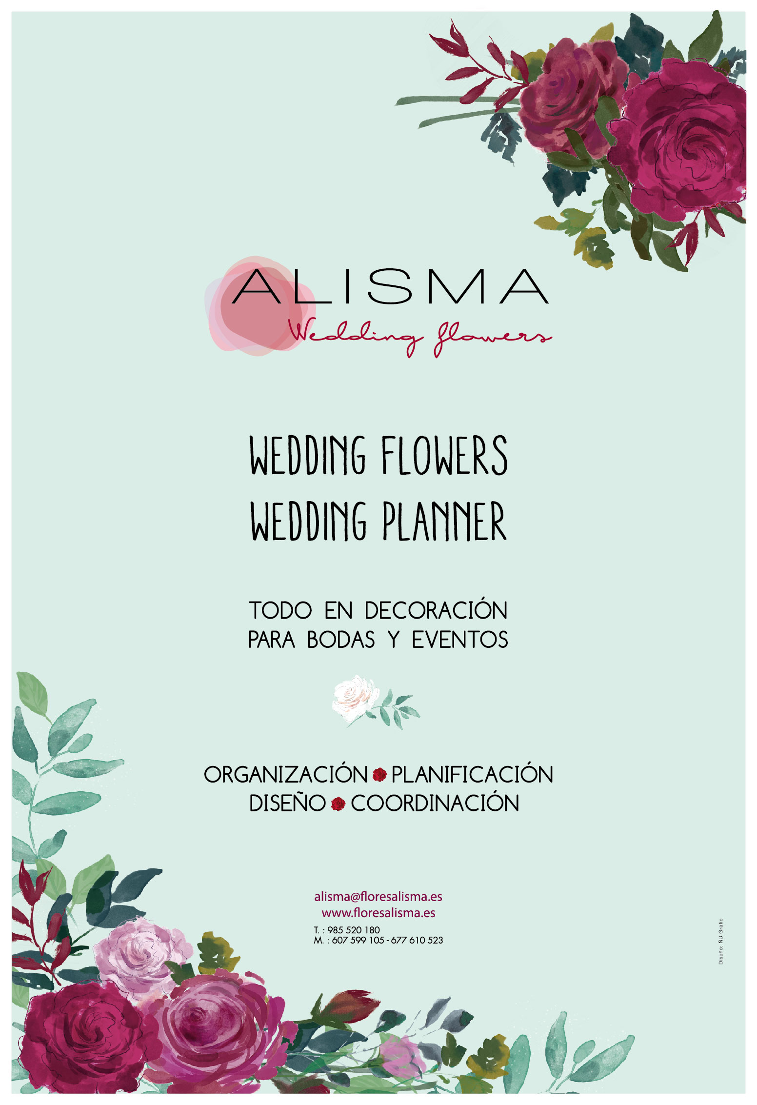 alisma wedding flowers