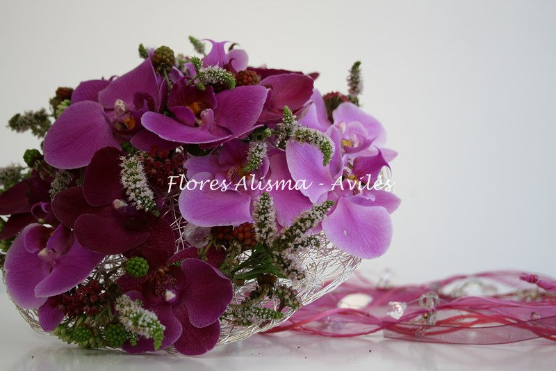 Ramo de novia atrevido en color aromas y texturas