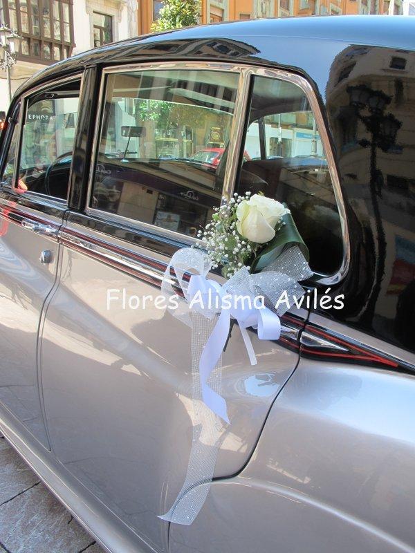 Flores alisma inicio nupcial promoci n de bodas - Decoracion interior coche ...