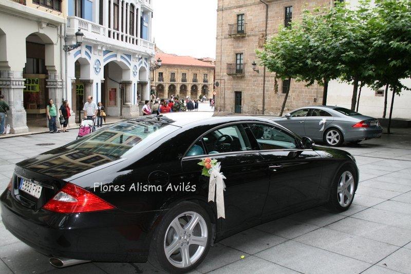 Decoración de coche para boda