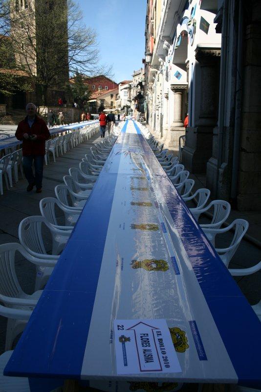 Comida en la Calle de las Fiestas de El Bollo (Lunes de Pascua en Avilés)