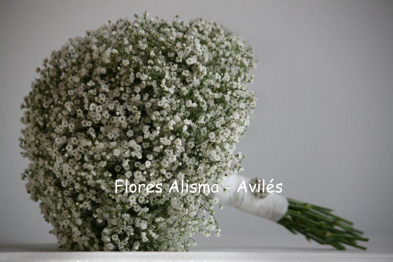 Ramo de novia Bouquet de paniculata para boda Flores Alisma Avilés