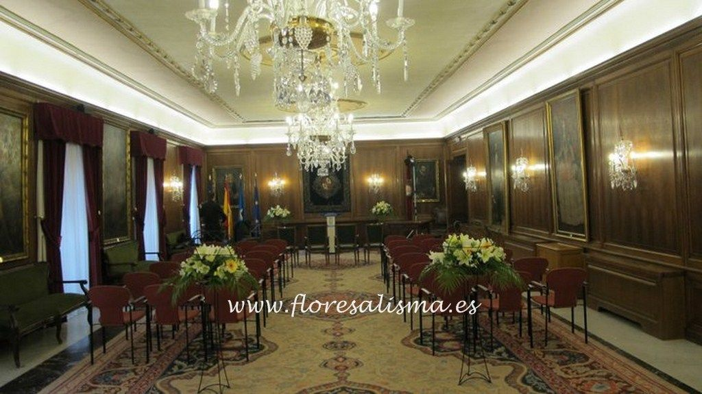 Decoracion boda civil en Ayuntamiento