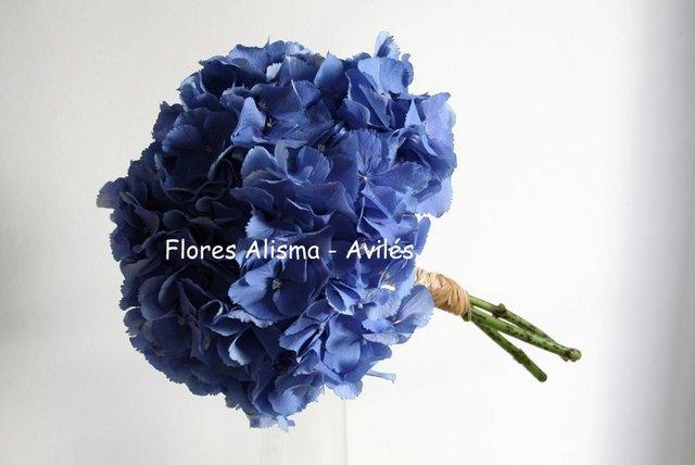 Ramo de novia Ramo de hortensias azules Bouquet de hortensias