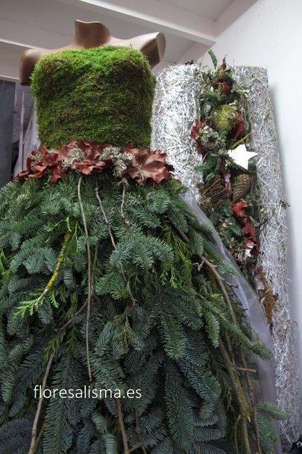 Vestido floral de navidad