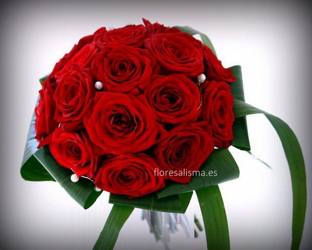 Ramo de novia Flores Alisma Bouquet de rosas