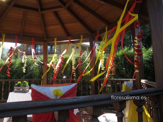 Decoración floral para boda Flores Alisma Avilés