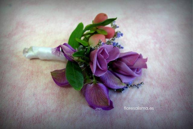 Prendido para novio Flores Alisma Avilés