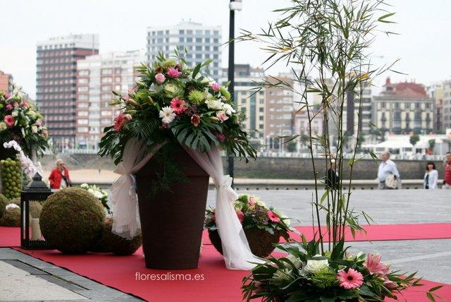 Decoración de Flores Alisma - Avilés - para boda en la Iglesia de San Pedro de Gijón
