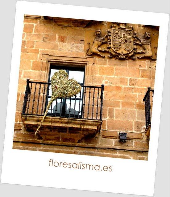 Decoración de balcón NH  Palacio de Ferrera