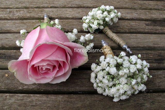 Prendidos para novios Flores Alisma - Avilés