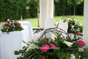 Decoración floral para boda civil
