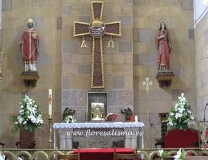 decoración floral para boda religiosa Decoración de altar