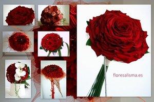 Ramos de novia en rojo para San Valentín - Flores Alisma