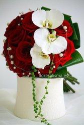 Ramo de novia - Flores Alisma - Rosas y Orquideas