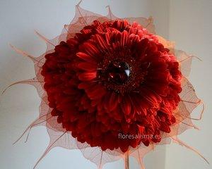 Ramo de novia. Germelia roja - Flores Alisma