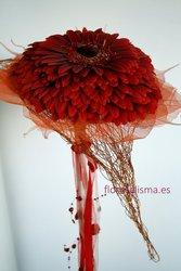 Ramo de novia.Germelia en estructura de corazón - Flores Alisma