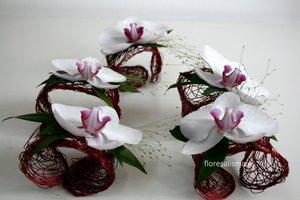 pulseras florales para damas de honor