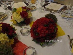 Centros de mesa para ceremonia