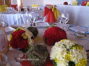 Centros de mesa para ceremonia Flores Alisma