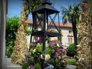 Decoración para boda de Flores Alisma de Avilés de la Iglesia de Jesús Nazareno en El Pito