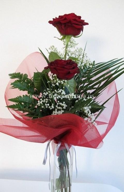 Flores Alisma - Arreglo de dos rosas