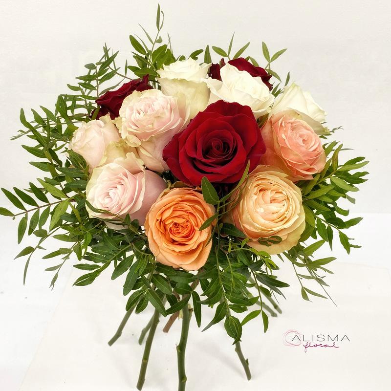Flores Alisma - Bouquet de rosas variadas - Flores Alisma