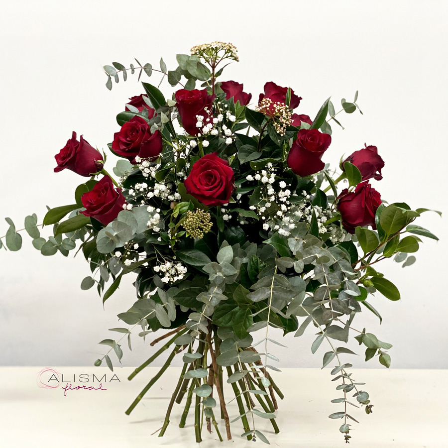 Flores Alisma - Ramo de 12 rosas - Flores Alisma