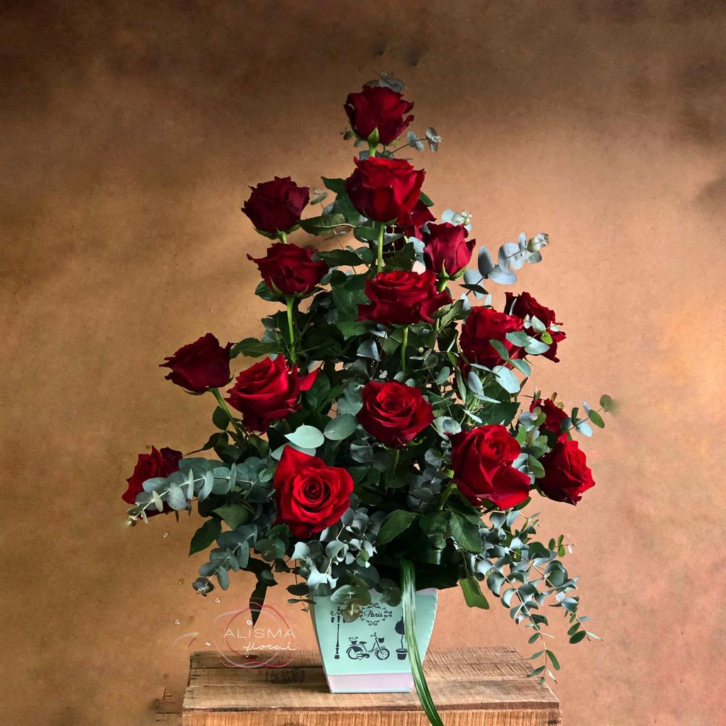 Flores Alisma - Centro de 18 rosas