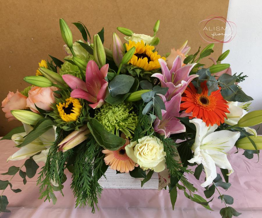 Flores Alisma - Cesta primaveral - Flores Alisma
