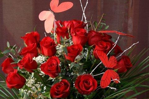 Flores Alisma - Ramo de 18 rosas rojas   - Flores Alisma