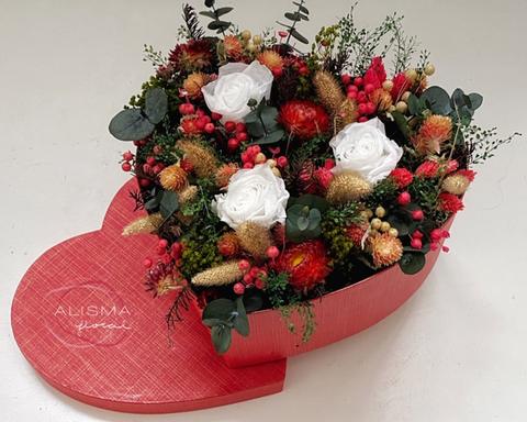 Flores Alisma - Centro en paralelo de rosas  - Flores Alisma