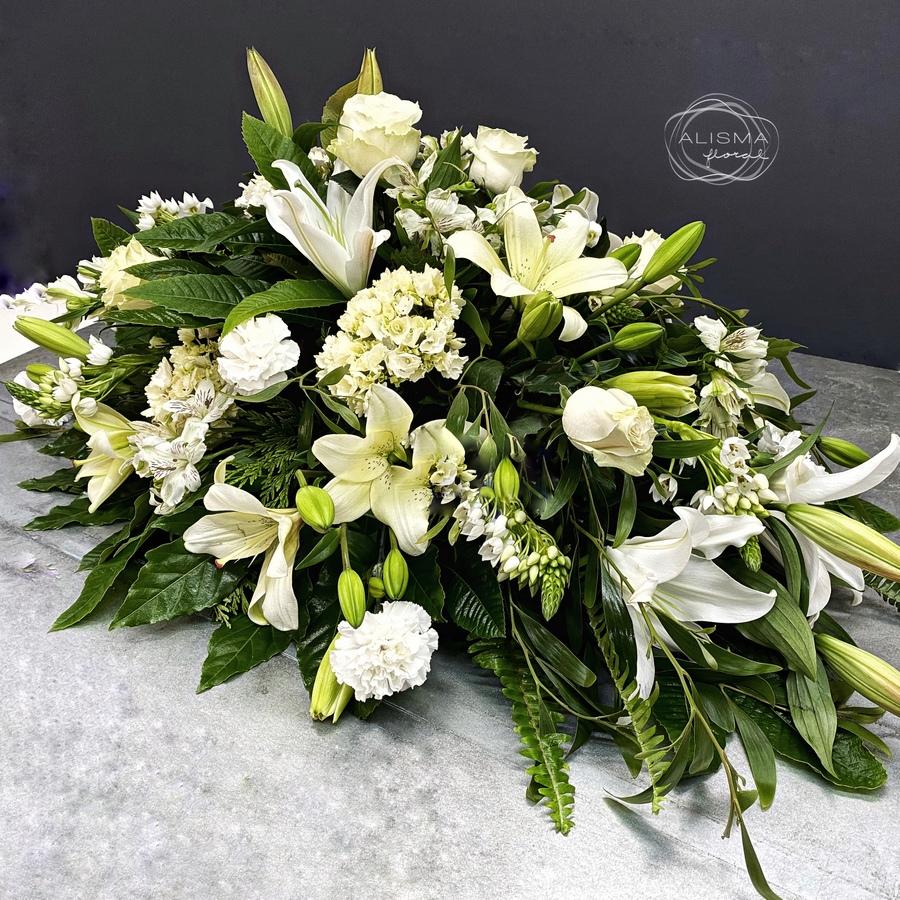 Flores Alisma - Centro mortuorio blanco  - Flores Alisma