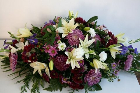 Flores Alisma - Centro mortuorio de flores variadas  - Flores Alisma