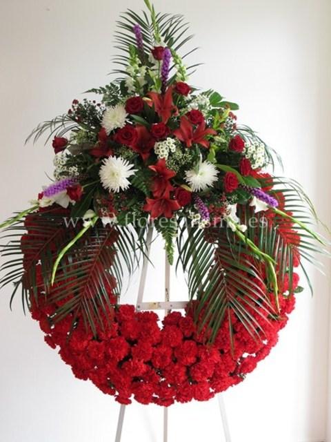 Flores Alisma - Corona con un cabecero   - Flores Alisma