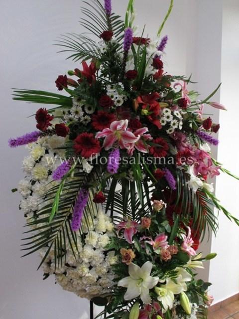 Flores Alisma - Corona con doble cabecero  - Flores Alisma