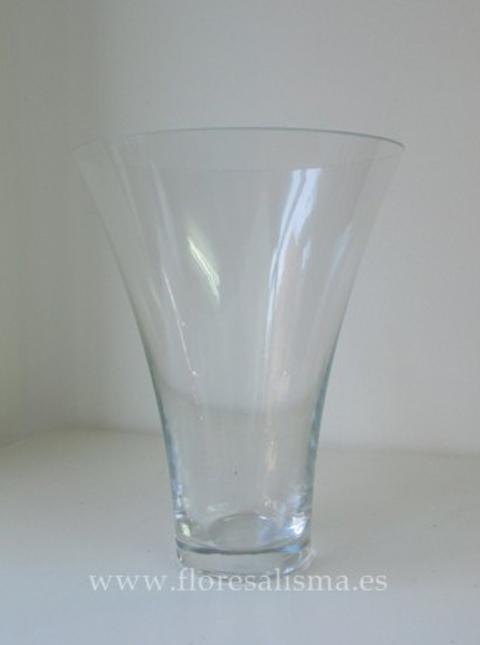 Flores Alisma - Jarrón de cristal transparente - Flores Alisma